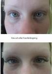 före och efter fransförlängning