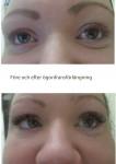 före och efter ögonfransförlängning
